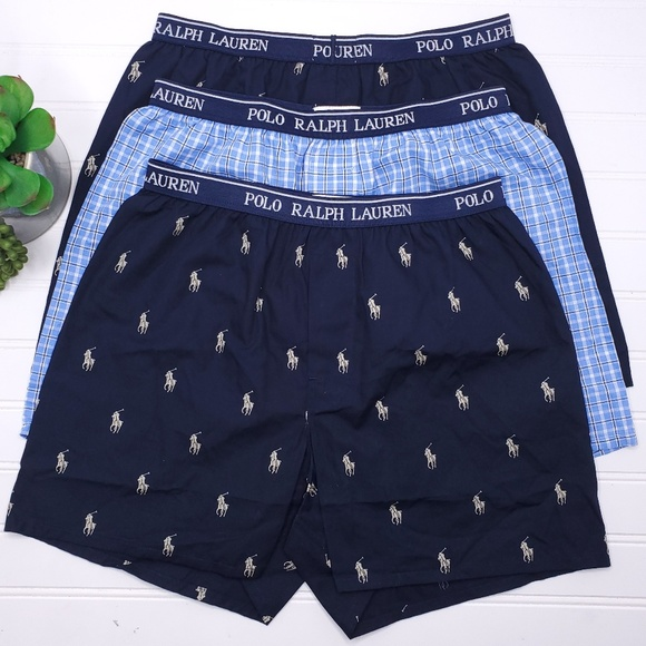 Sz Polo Ralph 3pk Lauren Boy's Youth L Boxers CxBsohrdtQ